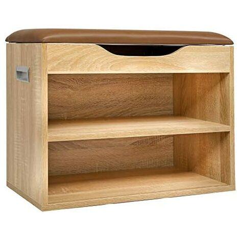 "main image of ""Cherry Tree Furniture 2-Level Shoe Rack Bench Storage 60 x 30 x 45 cm"""
