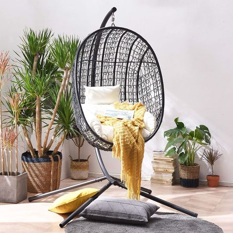 Cherry Tree Furniture Azura Black Patio Hanging Egg Chair