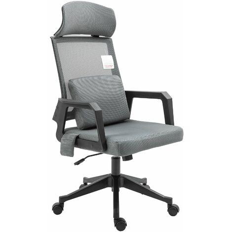 Cherry Tree Furniture Beni Plus Mesh Swivel Office Chair with Massage Lumbar Cushion in
