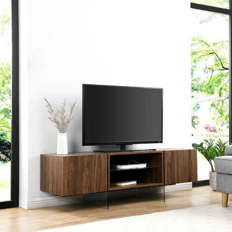 Cherry Tree Furniture Bensson 2 Door TV Unit with Glass Legs