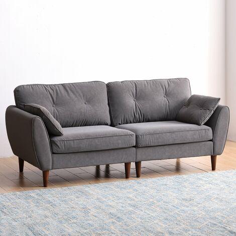 Cherry Tree Furniture Brooks Sofa range in Grey PU Leather 3 Seater