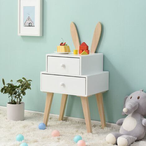 Cherry Tree Furniture Bunny 2 Drawer Bedside Table FSC-Certified