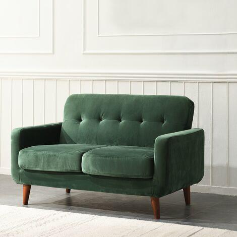Cherry Tree Furniture Clarence Sofa in Green Velvet 2 Seater