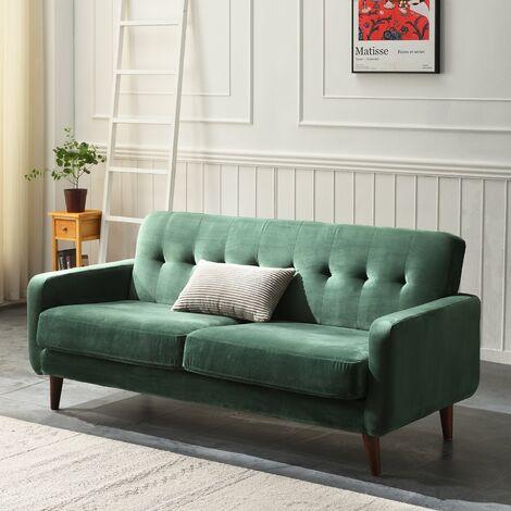 Cherry Tree Furniture Clarence Sofa in Green Velvet 3 Seater