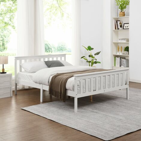 """main image of """"Cherry Tree Furniture Clement Solid Wood Small Double 4FT Bed Frame White"""""""