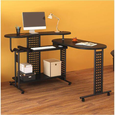 Cherry Tree Furniture Expandable Computer Desk Computer Workstation Corner Desk