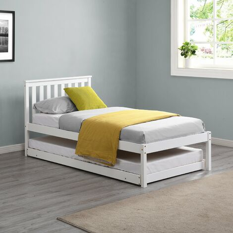 """main image of """"Cherry Tree Furniture Fairfield FSC Certified Single Wooden Bed with Pop Up Trundle"""""""