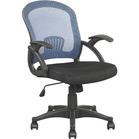 Cherry Tree Furniture Fauteuil de bureau avec dossier en maille bleue et assise extra rembourrée