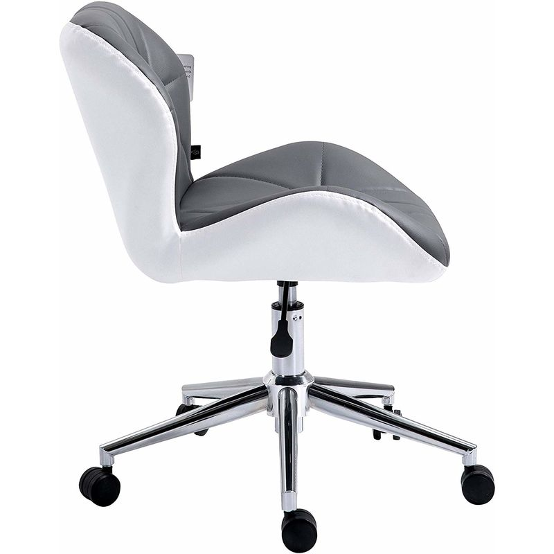 Admirable Cherry Tree Furniture Faux Leather Chrome Base Tufted Swivel Office Chair Desk Chair Grey White Grey White Ocoug Best Dining Table And Chair Ideas Images Ocougorg