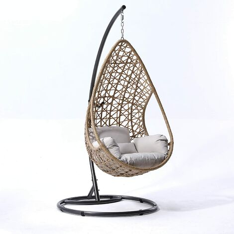 Cherry Tree Furniture Indra Rattan Effect Patio Hanging Egg Chair
