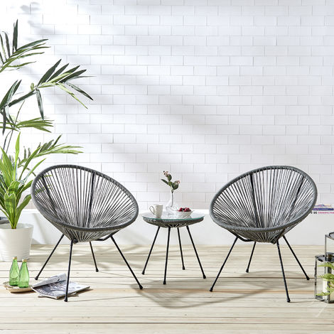 Cherry Tree Furniture Konya 2 Seater Rattan Bistro Table and Chair Set