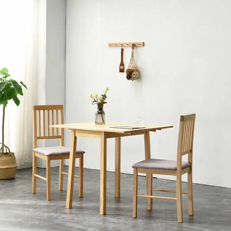 Cherry Tree Furniture Malden Solid Wood Extending Dining Table set with 2 Chairs