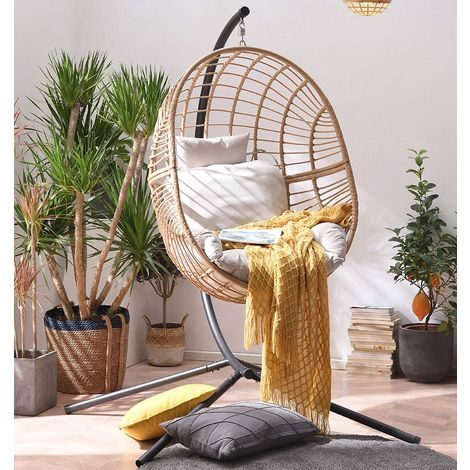 Cherry Tree Furniture Marigold Rattan Effect Hanging Egg Chair