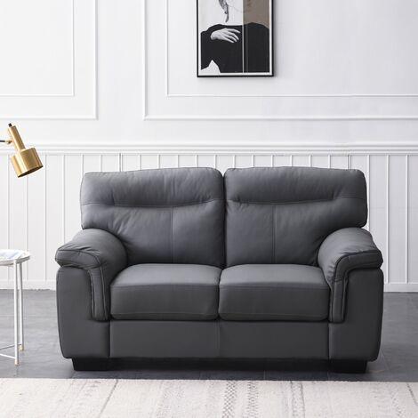 Cherry Tree Furniture Meriden Sofa in Grey PU Leather 2 Seater