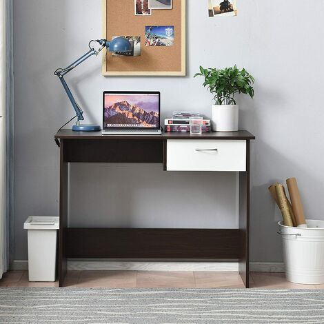 Cherry Tree Furniture MERV Computer Desk Home Office Desk with Drawer Colour