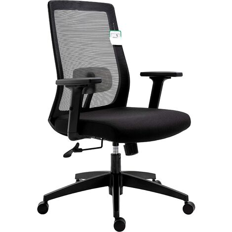 Cherry Tree Furniture Mesh Fabric Desk Chair Office Chair with Adjustable Armrests & Lumbar Support