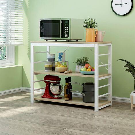 Cherry Tree Furniture Microwave Rack Shelf, Kitchen Organiser Workstation