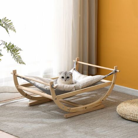 Cherry Tree Furniture Natural Wood Cat Bed Hammock FSC Certified