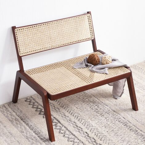 Cherry Tree Furniture Pembroke Solid Wood Rattan Low Lounge Chair
