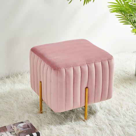Cherry Tree Furniture Perce Fluted Velvet Square Stool