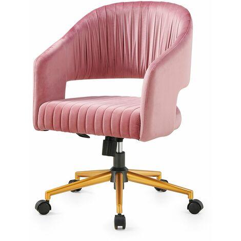 Cherry Tree Furniture Perce Velvet Swivel Desk Chair