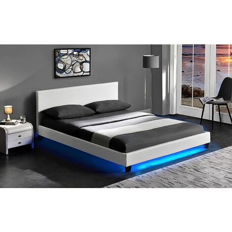 """main image of """"URSA PU Leather Bed Frame with LED on Footend"""""""