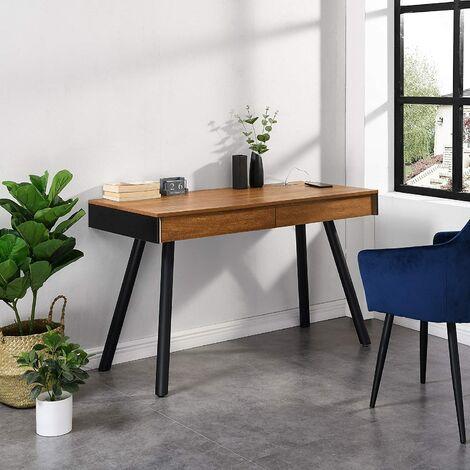 Cherry Tree Furniture ZERMATT Smart Desk with Built-in Bluetooth/USB Speaker & Charger