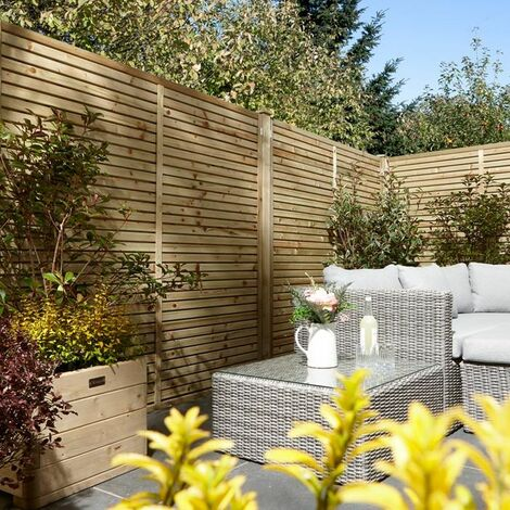 Cheshire Contemporary Treated Fence Panel