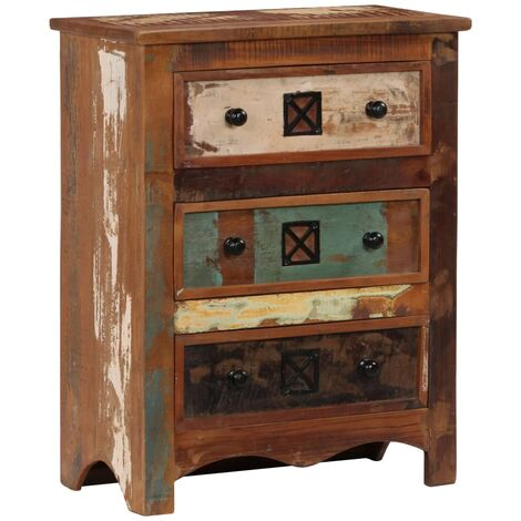 Chest of Drawers 60x30x75 cm Solid Reclaimed Wood