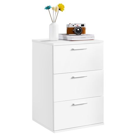 Chest of Drawers Bedside Table Wooden Nightstand with 3 Drawers Side Table for Bedroom/Living Room/Hallway