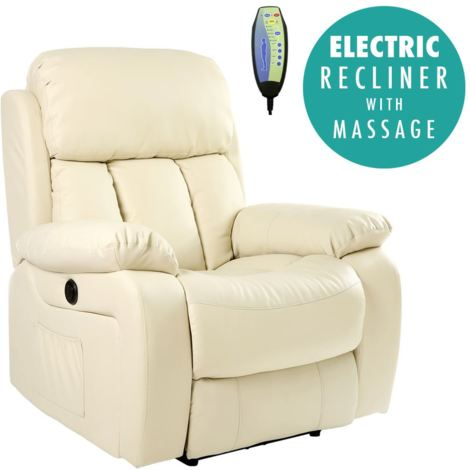 CHESTER AUTOMATIC LEATHER RECLINER CHAIR - different colors available