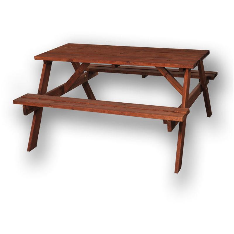 Magnificent Chester Brown 4 6 Seater Wooden Picnic Pub Bench Gmtry Best Dining Table And Chair Ideas Images Gmtryco