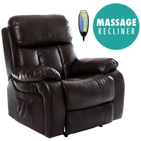 CHESTER REAL LEATHER RECLINER ARMCHAIR - different colors available