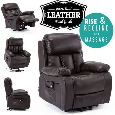 CHESTER RISE LEATHER RECLINER CHAIR - different colors available