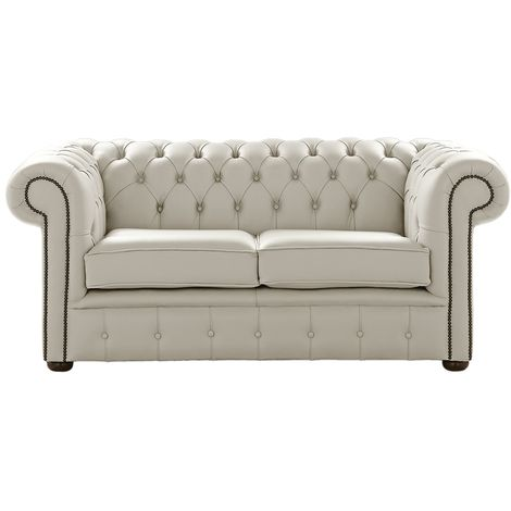 Chesterfield 2 Seater Shelly Seely Leather Sofa Settee