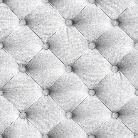 """main image of """"Chesterfield Headboard Wallpaper Fabric Effect Padded Grey Vinyl Paste The Wall"""""""