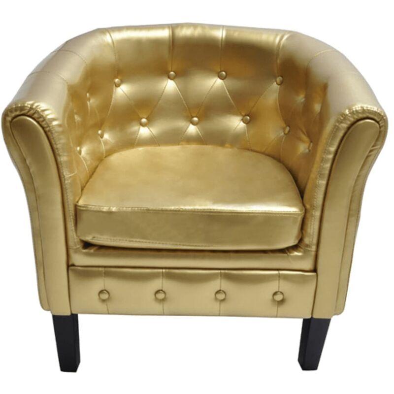 Sessel Kunstleder Golden