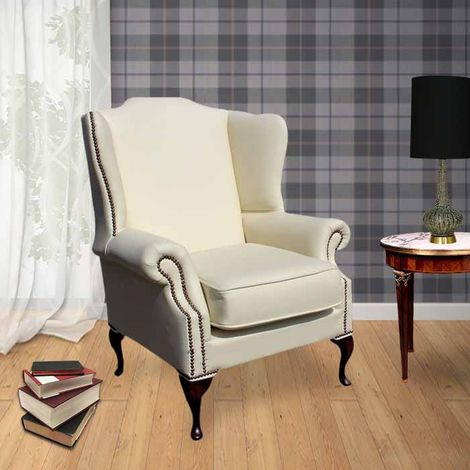 Chesterfield Richmond Armchair Cottonseed Cream Leather