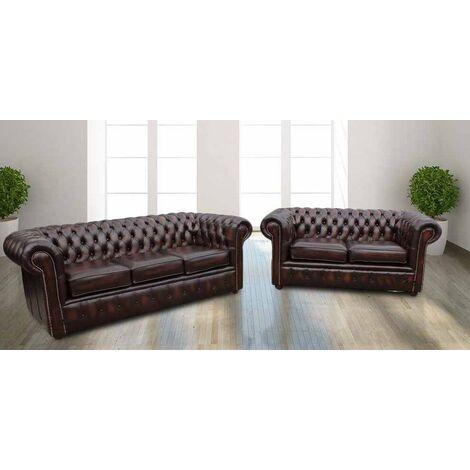 Chesterfield Sofa Suite London | Leather furniture|DesignerSofas4U