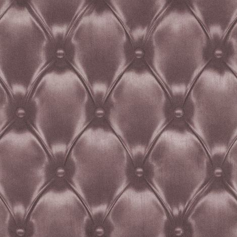 Chesterfield Wallpaper Headboard Effect Cushioned Padding Luxury Purple Grey