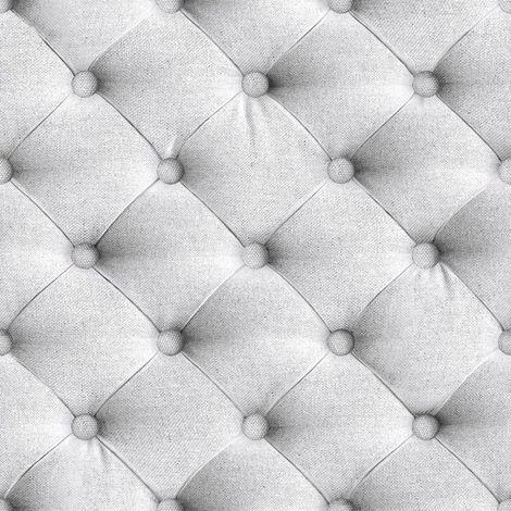 Chesterfield Wallpaper Padded Headboard Fabric Effect Luxury Textured Grey