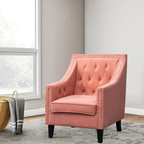 Chesterfield WingBack Buttoned Cuddle Velvet Armchair