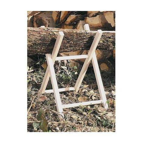Chevalet bois pour sciage H.68cm , larg.40cm , section 30x35mm avec chaine