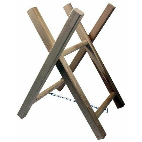 Chevalet de tronçonnage en bois - 2 tréteaux