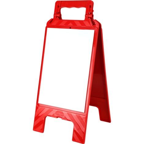 Chevalet effaçable Blanc - Rouge - 4291543