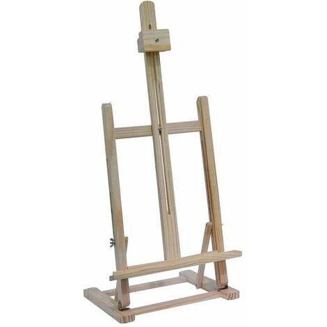 Chevalet en bois - H 56 cm - Accessoire peinture