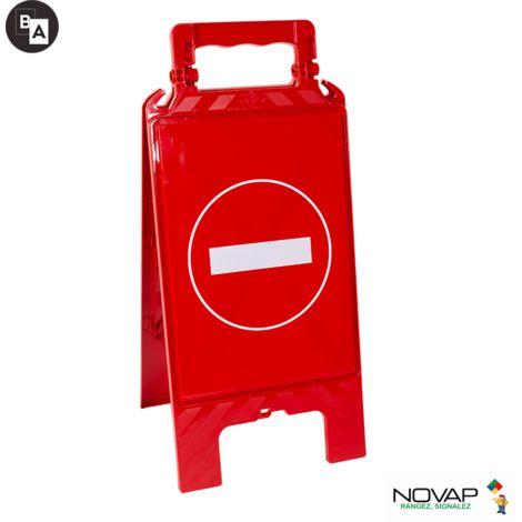 Chevalet modulable rouge - Sens interdit - 4280479