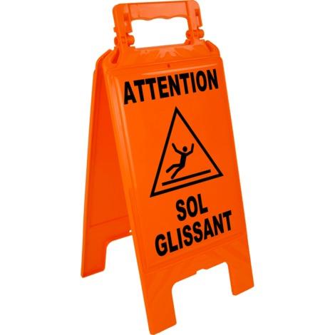 Chevalet sol glissant - orange - 4292120