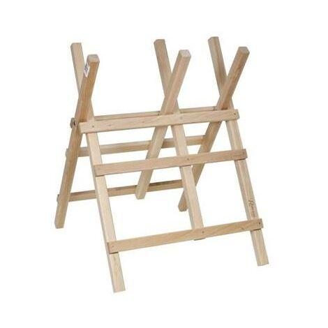 Chevalet support robuste en bois pour scier tronconner les buches