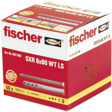 Cheville avec vis à bois 6x60 mm SXR Fischer x50 C09527
